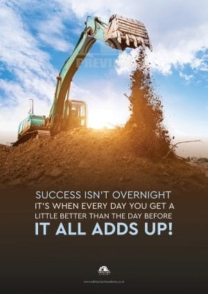 Success Isn't Over Night Poster