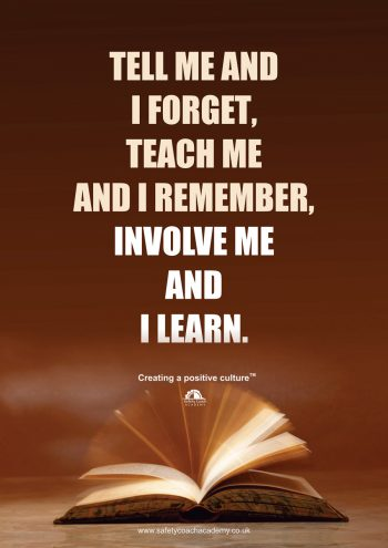 Involve Me and I Learn Poster