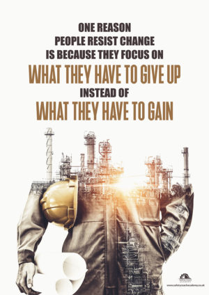 Focus on What You Will Gain Poster